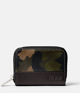Camo Leather Coin Wallet