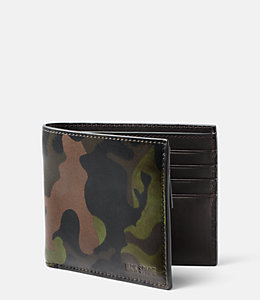 Camo Leather International Wallet
