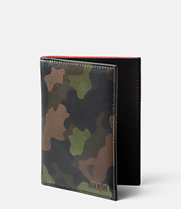Camo Leather Passport Wallet