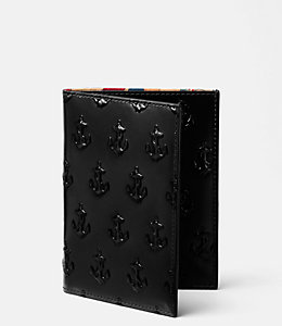 Embossed Anchor Passport Wallet