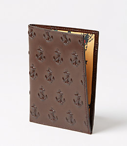 Embossed Anchor Passport Sleeve