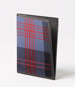 Cocharron Plaid Passport Holder