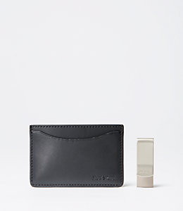Credit Card Holder & Money Clip Gift Set