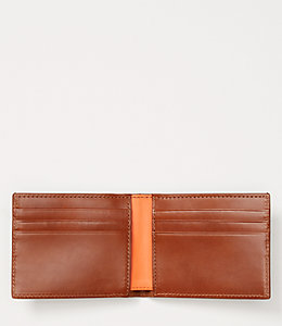 Dipped Leather Slim Billfold