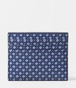 Mosaic Tile Barrow Leather 6 Card Holder