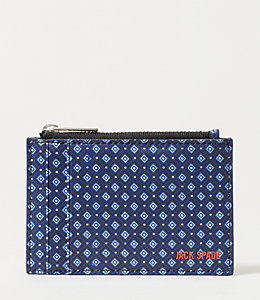Mosaic Tile Barrow Leather Flat Zip Wallet