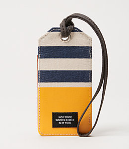 Industrial Canvas Stripes and Dipped Luggage Tag