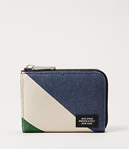 Industrial Canvas Repp Stripe Coin Wallet