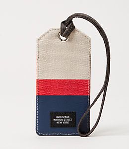 Industrial Canvas Horizontal Stripe Luggage Tag