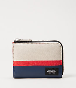 Industrial Canvas Horizontal Stripe Coin Wallet