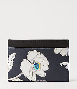 Poppy Floral Credit Card Case Holder