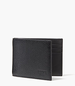 Pebbled Leather Slim Billfold