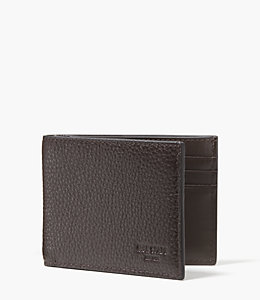 Pebbled Leather Slim Billfold