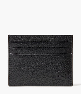 Pebbled Leather Six Card Holder