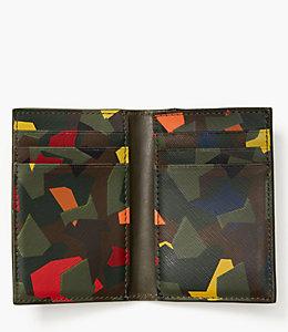Leather Kaleidoscope Flap Wallet