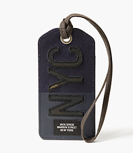 NYC Camo Luggage Tag