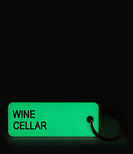 Glow in the Dark Red Cellar Keytag by Various Keytags