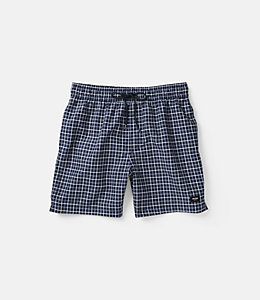 Dotted Plaid Grannis Swim Trunks
