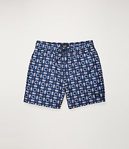 Floral Tile Swim Trunk