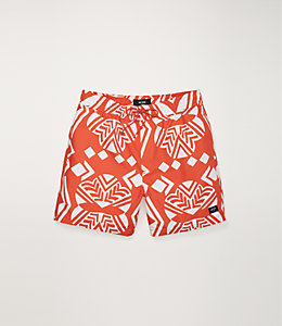 Exploded Mexican Floral Swim Trunk