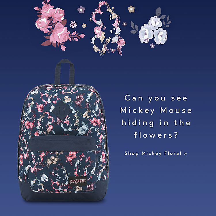 Can you see Mickey Mouse hiding in the flowers?  Shop Mickey Floral