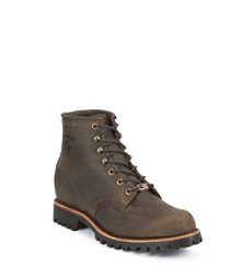 "6"" CHOCOLATE APACHE STEEL TOE LACE UP"