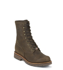 "8"" CHOCOLATE APACHE STEEL TOE LACE UP"