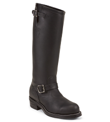 "17"" BLACK ODESSA ENGINEER BOOT"