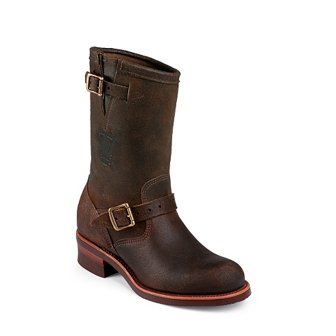 Chippewa Men S 11 Quot Motorcycle Engineer Boots Made Usa Brown