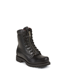 "8"" BLACK PATENT FRONT LACE WORKBOOT"