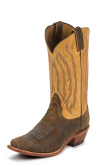 BROWN AND BLACK CRACKLE SINGLE STITCHED WELT,HANDCRAFTED IN THE USA