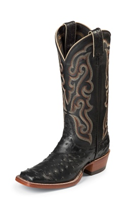 LADIES BLACK FULL QUILL OSTRICH