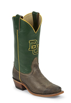 BAYLOR TAN VINTAGE COW BAYLOR LOGO CENTERED ON FRONT QUARTER,SINGLE STITCHED WELT,HANDCRAFTED IN THE USA