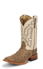 ANTQ MINK VINTAGE FQ OSTRICH DOUBLE STITCHED WELT,HANDCRAFTED IN THE USA