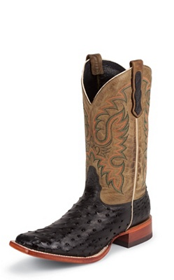 MENS BLACK FULL QUILL OSTRICH