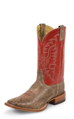 MINK VINTAGE SMOOTH OSTRICH DOUBLE STITCHED WELT,HANDCRAFTED IN THE USA