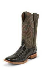 BLACK CAIMAN DOUBLE STITCHED WELT,HANDCRAFTED IN THE USA