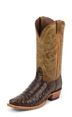 CHOCOLATE CAIMAN DOUBLE STITCHED WELT,HANDCRAFTED IN THE USA