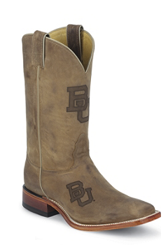 BAYLOR BROWN COWHIDE BRANDED BAYLOR LOGO CENTERED ON FRONT QUARTER,DOUBLE STITCHED WELT,HANDCRAFTED IN THE USA