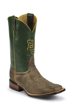 BAYLOR TAN VINTAGE COW BAYLOR LOGO CENTERED ON FRONT QUARTER,DOUBLE STITCHED WELT,HANDCRAFTED IN THE USA
