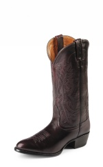 BLACK CHERRY BRUSH/OFF IMPERIAL CALF SINGLE STITCHED WELT