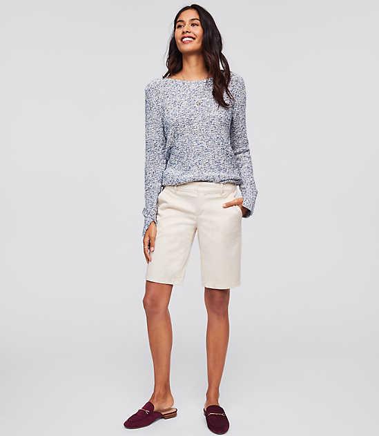 로프트 LOFT Bermuda Roll Shorts