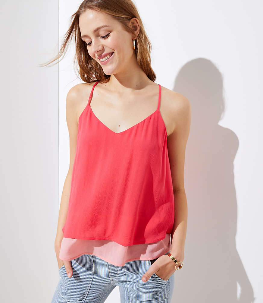 Tiered Strappy Cami by Loft