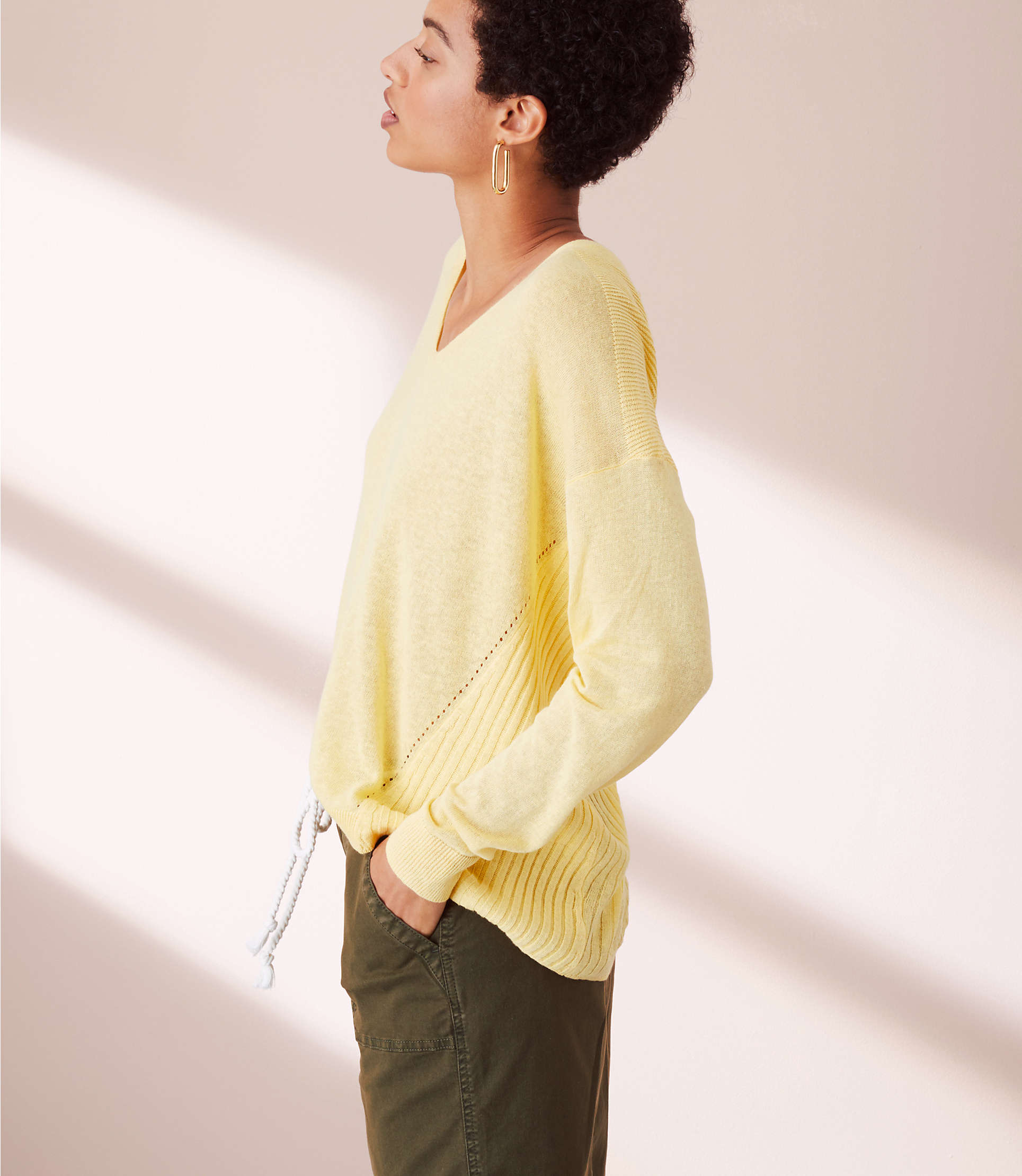 Lou &Amp; Grey Backrib Slouchy Sweater by Lou & Grey