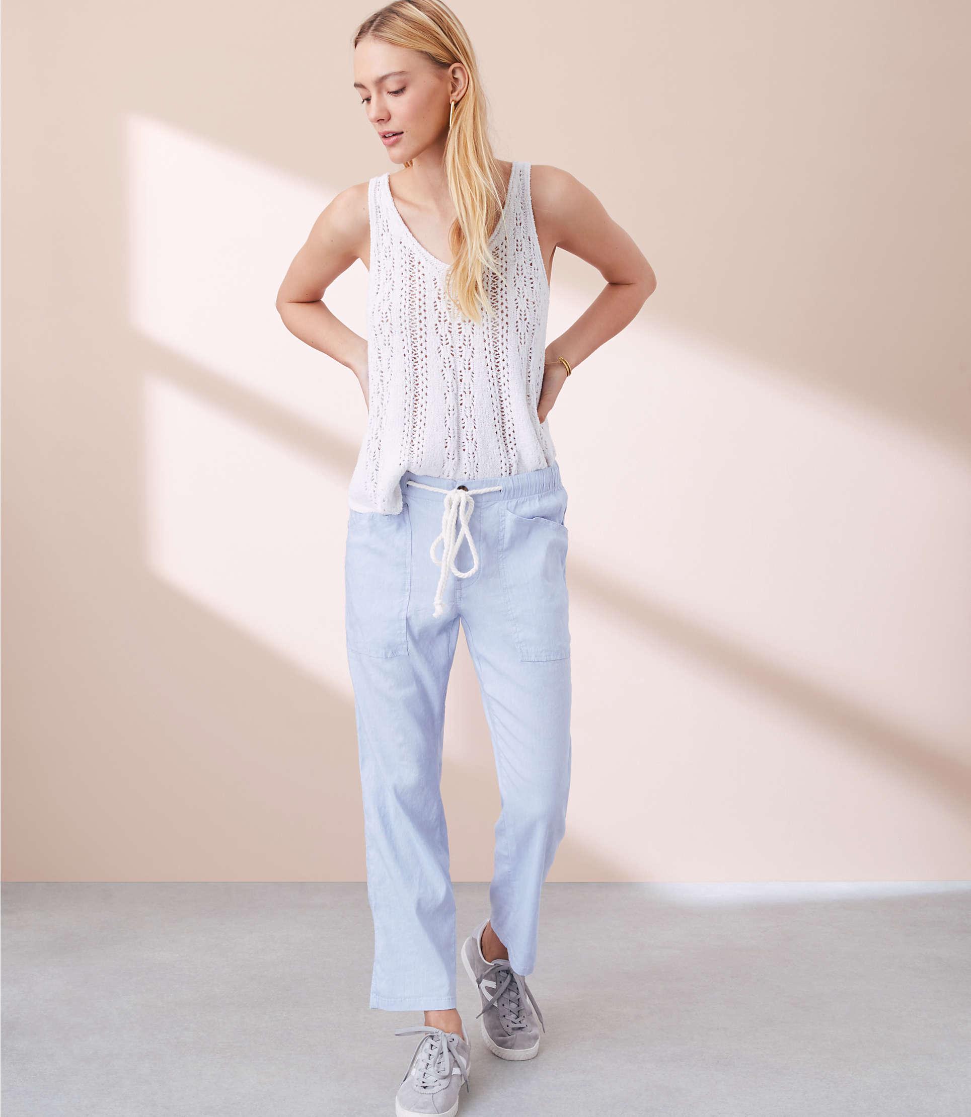 Lou &Amp; Grey Crosshatch Garment Dye Pants by Lou & Grey