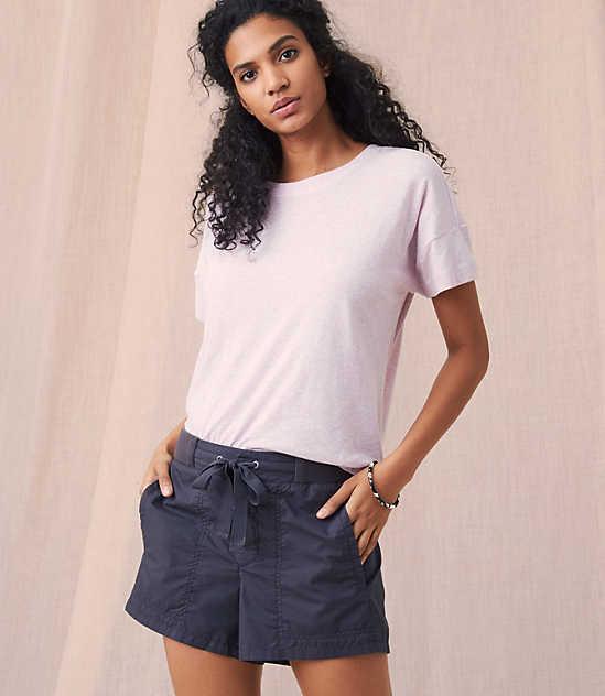 로프트 LOFT Lou & Grey Garment Dye Poplin Shorts