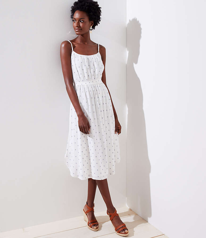 Petite Polka Dot Strappy Dress by Loft