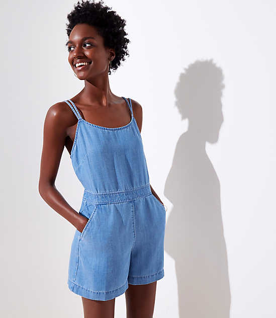 Strappy Chambray Romper