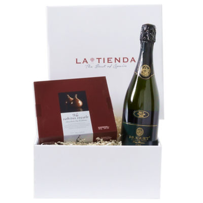 Cava Wine & Chocolate Gift Basket