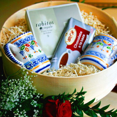 Chocolate Favorites & Mugs Gift Basket